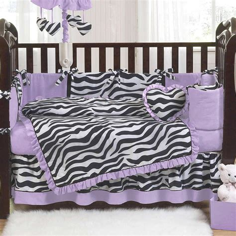 Animal Print Crib Bedding Set Purple Black And White Zebra Print 9 Crib Bedding Set Eastsacflorist Home And Design