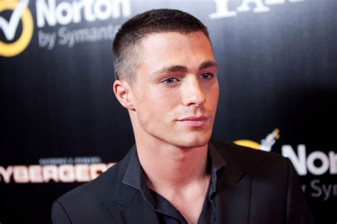 Hairstyle Tapered Candles by Colton Haynes Engaged To Boyfriend Jeff Leatham Stock
