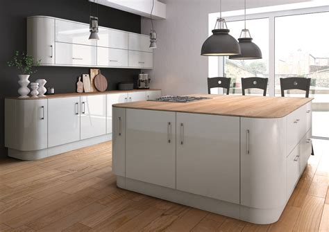 grey kitchen insel high gloss kitchens