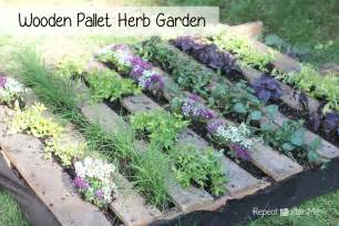 Diy Wood Planter Box by Wooden Pallet Herb Garden Repeat Crafter Me