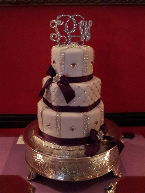 purple bling wedding cake discover and save creative ideas