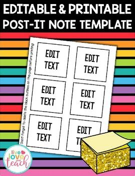 Post It Note Templates Powerpoint Templates Executive Leadership Post It Notes Ppt Process Editable Post It Note Template