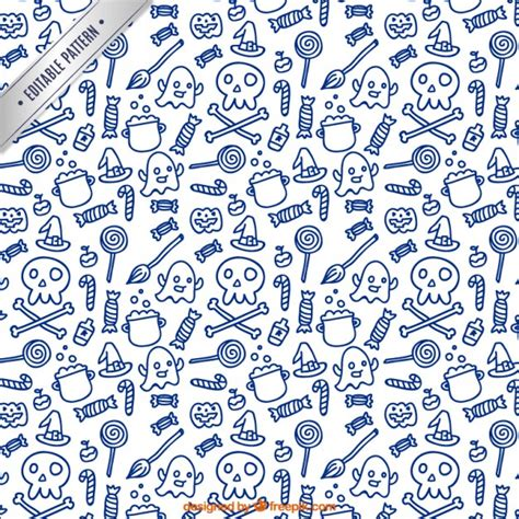 how to make a doodle edit pattern in doodle style vector free