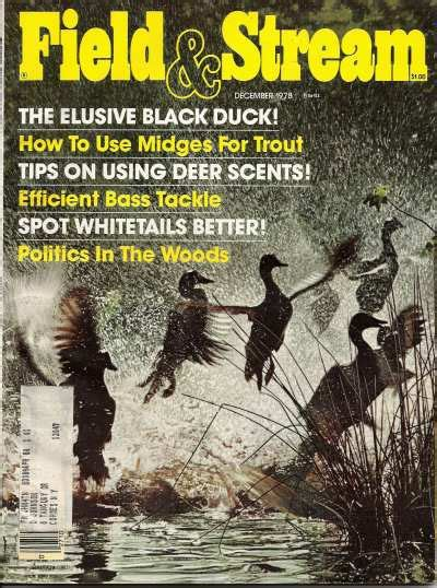 Field And Stream Gift Card - vintage field and stream magazine december 1978