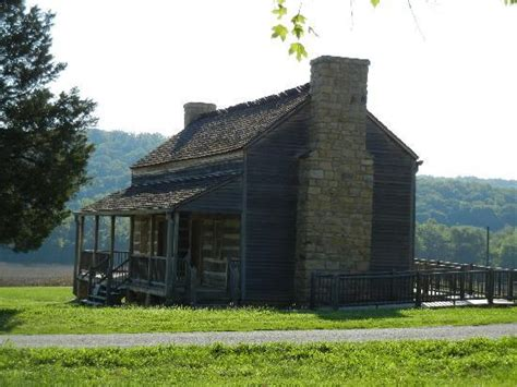 Daniel Boone Home by Log Cabin Moved Into Boonsfield Picture Of