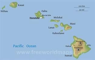 map of the united states with hawaii capital hawaii mapa