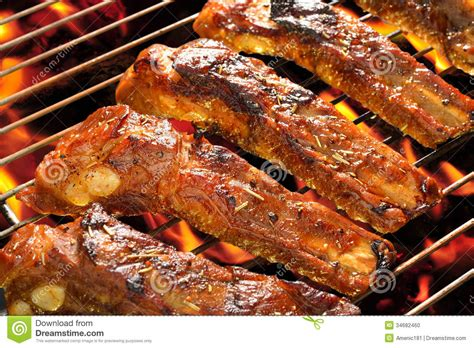 country style spare ribs grill grilled pork stock photo image 34682460