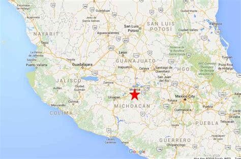de michoacan mexico map morelia michoac 225 n on the road in mexico