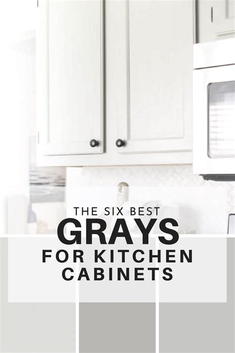 best color to paint kitchen cabinets the six best paint colors for gray kitchen cabinets