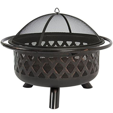 best choice products bronze bowl pit patio