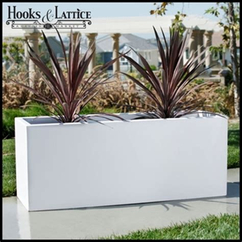 Planting The Chic In Cheap by Planters Composite Chic Planter Box White
