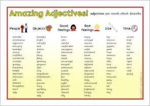 Adjective words words and kids writing on pinterest