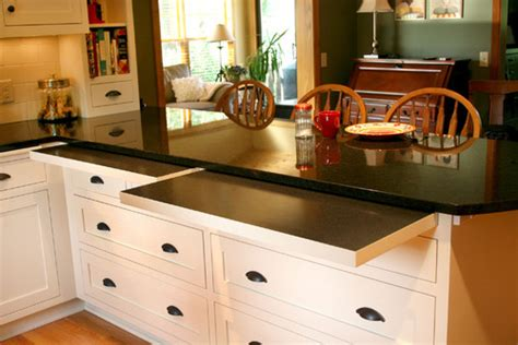 Minneapolis Kitchen Cabinets by 7 Kitchens With Seriously Clever Hideaway Counter Space
