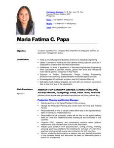 Job Resume Philippines by Philippines Resume Sample Resumes Design