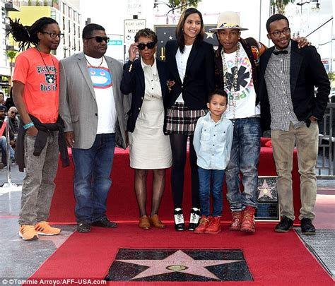 pharrell williams wife and kids pharrell williams gets star on hollywood walk of fame with