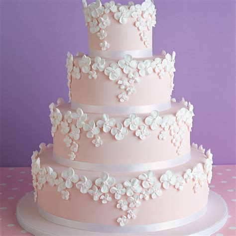 Pink Wedding Cake by Pink Wedding Cake And Home