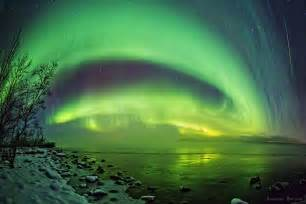light in the sky northern lights in the sky murmansk region 183 russia