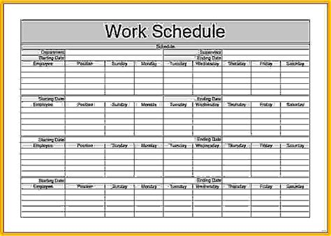 Monthly Work Schedule Template Picture Studiootb Picture Schedule Template
