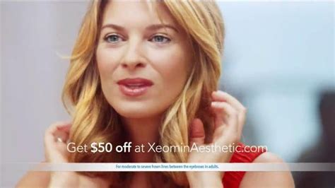 otezla commercial actress with flower xeomin tv commercial frown lines ispot tv