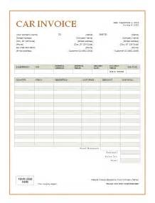 Auto Transport Invoice Template by Car Invoice Template Printable Word Excel Invoice