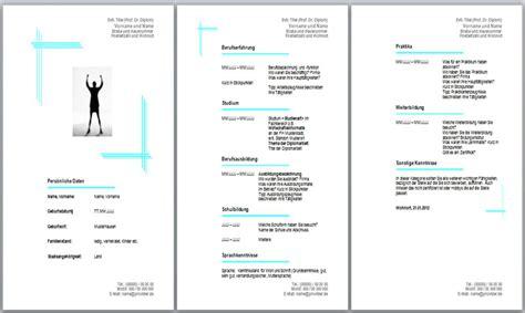 Lebenslauf Formular Word by Lebenslauf Vorlage Muster Beispiel Downloaden Kostenlos