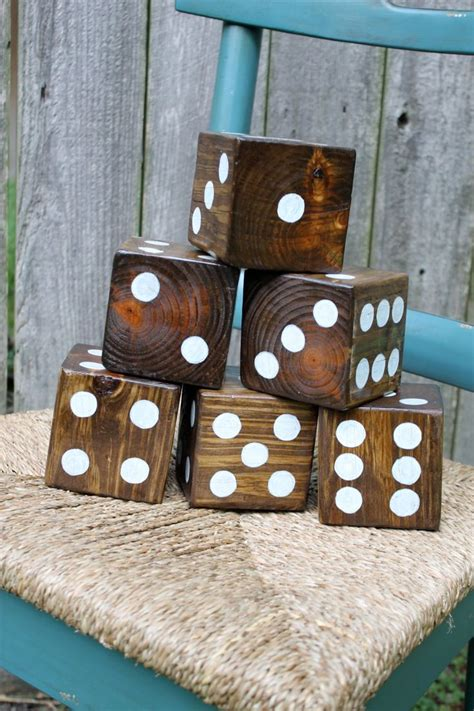 Backyard Dice Yard Dice Wooden Dice For Outdoor Dice