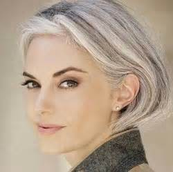 grey hairstyles for younger gorgeous silver bobs