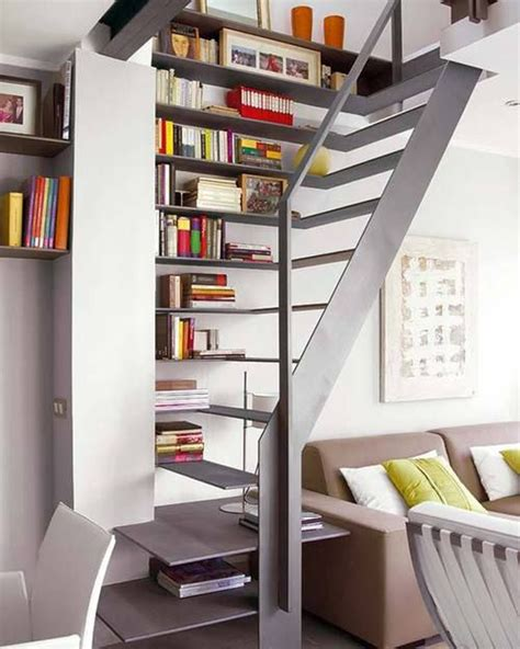 staircase shelf 22 cool ways to fill your stairs with bookshelves home