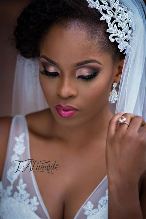 Nigerian Bridal Natural Hair and Makeup Shoot   Black