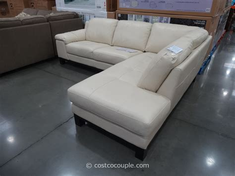 costco sectional htl manhattan leather sectional