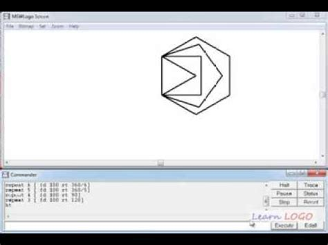 logo pattern commands msw logo draw a polygon using repeat command in logo for