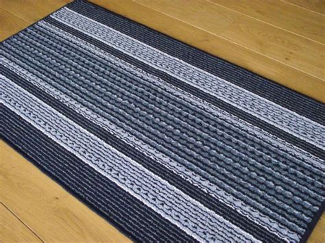 Rubber Backed Kitchen Rugs Classic Kitchen With Blue Striped Machine Washable Rubber Backed Rugs And Non Slip Backing Rug