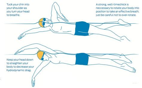 swim diagram a proper position means you re working less to move