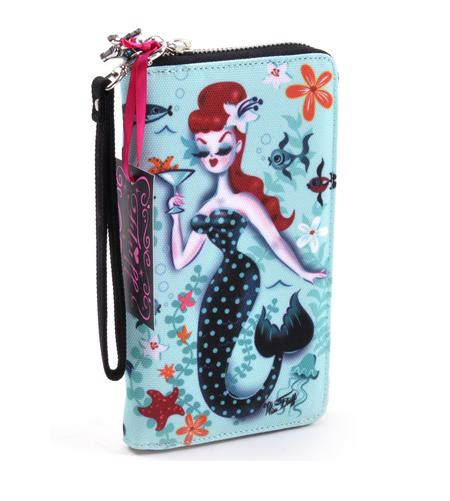 martini mermaid martini mermaid cocktails wristlet wallet by fluff pink