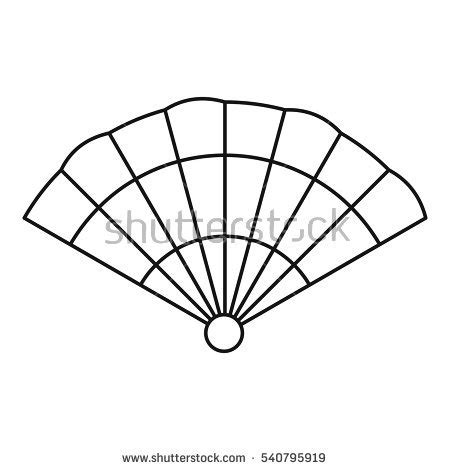 Fan Outline by Stock Images Royalty Free Images Vectors