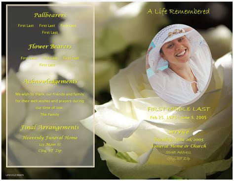 powerpoint templates free download funeral lifecycleprints celebration of life funeral program