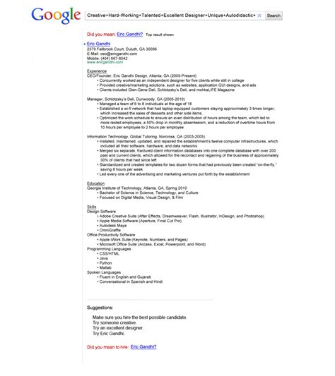 Resume Samples Kenya by Guerilla Sollicitatie Gevonden Worden Door Te Adverteren