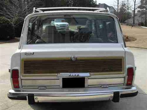 wrecked white jeep grand purchase used 1988 jeep grand wagoneer all original