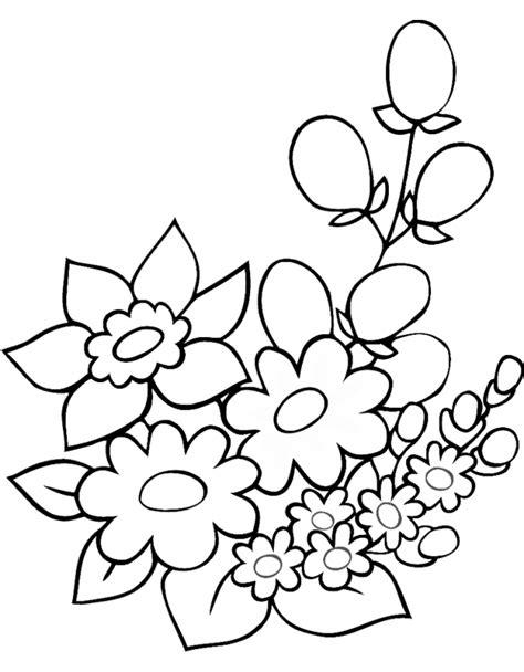 disegni fiori per disegni semplici da colorare az colorare