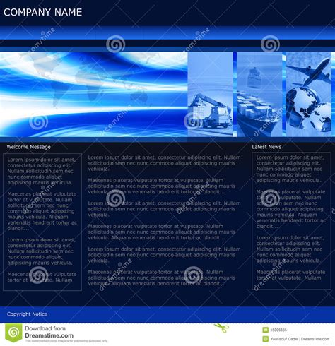 website templates for export business freight business website template royalty free stock photo