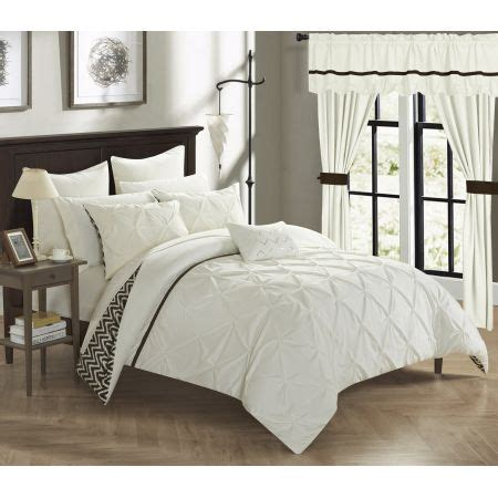 20 piece bedding set chic home potterville 20 piece reversible comforter complete bed in a bag pinch