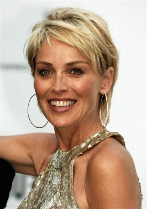 casual updos over 40 hairstyles for older women over 40 sharon stone and