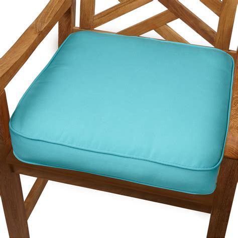indoor outdoor bench cushions amazon com mozaic indoor outdoor corded chair cushion