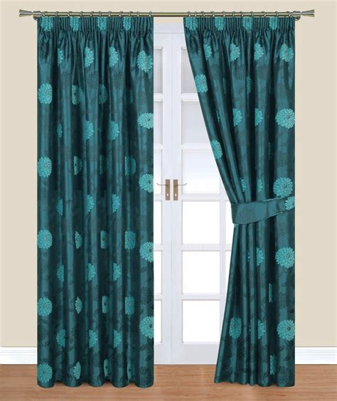 Teal Curtains Clara Teal Belfield Curtain Net Curtain 2 Curtains