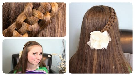 4 strand french braid easy hairstyles cute girls 4 strand quot slide up quot braid cute girls hairstyles youtube