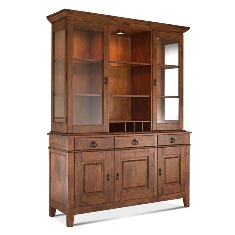 hutches for dining room klaussner craftsmen dining room buffet and hutch