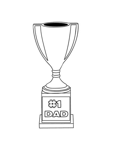 trophy card template no 1 trophy free printable coloring pages