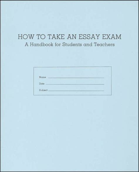Take The F Essay by How To Take An Essay Booklet 041007 Details Rainbow Resource Center Inc