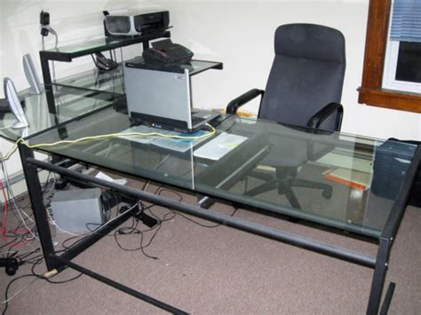 Glass Top Desk Office Depot Office Depot Computer Desks Home Design Ideas And Pictures