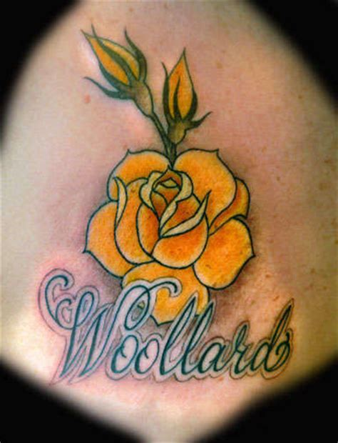 yellow rose tattoo club angelgalindo with grenade yellow lettering